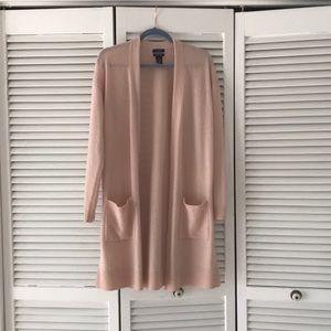 Halogen Cashmere blend duster cardigan